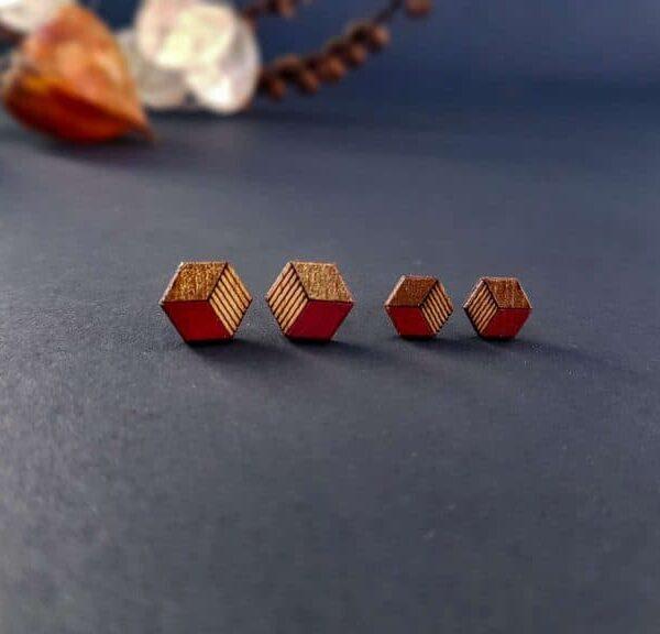 leseni uhani kocke PARAROK nakit
