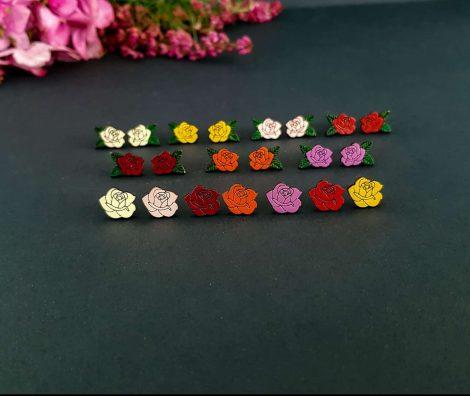 leseni uhani vrtnice PARAROK nakit