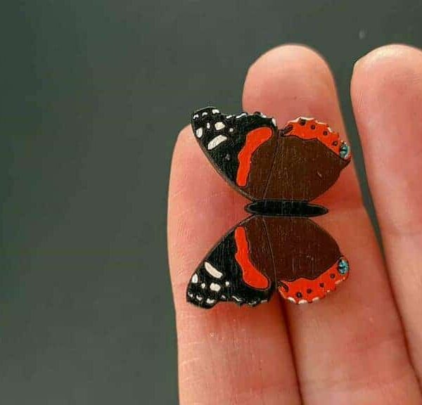 PARAROK-lesena-broška-metulj