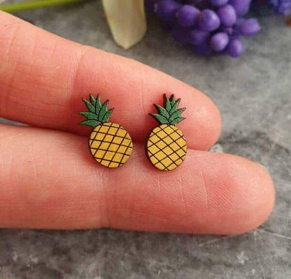 leseni uhani ananas | PARAROK nakit
