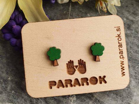 leseni uhani drevo | PARAROK nakit